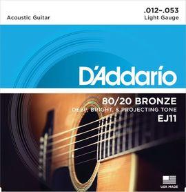 DADDARIO EJ11 80/20 Bronze Round Wound 12-53 Struny Do Gitary Akustycznej