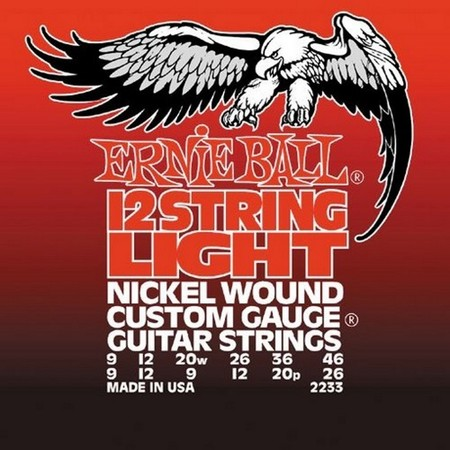 Ernie Ball EB 2233 Custom 12 String struny do gitary elektrycznej 9-46