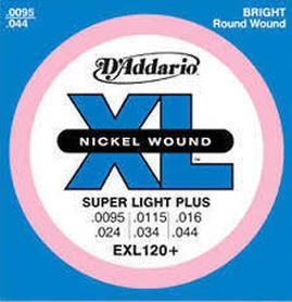 D'Addario EXL120+ 095-44 Super Light Plus struny do gitary elektrycznej