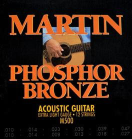 Martin M500 Extra-Light 12 String Phos' Bronze struny do gitary akustycznej