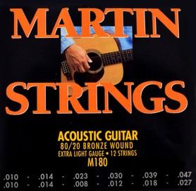 Martin M180 Bronze Wound XL 12 struny do gitary akustycznej 12 strunowej