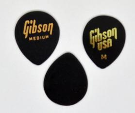 Gibson 33GG50M Medium,Black Jazz Style Plectra Plectra kostki 10 sztuk