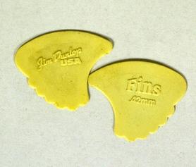 Jim Dunlop 414R73 Tortex Fin 0.73mm Yellow Plectra kostki 10 sztuk