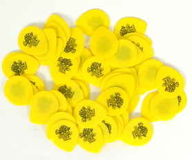 Jim Dunlop 418R73  Tortex Standard 0.73mm Yellow Plectra kostki 10 sztuk