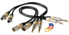 Kabel mikrofonowy, XLR(F), prosty wtyk 1/4