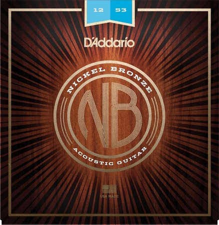 DADDARIO NB1253 struny do gitary akustycznej i elektroakustycznej nickel bronze 12-53