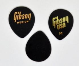 Gibson 33GG50M Medium,Black Jazz Style Plectra Plectra kostki 1 sztuk