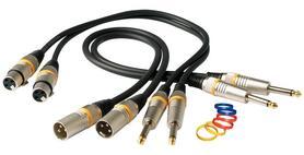 RCL 30390 D6 F Przewód mikrofonowy 10m, XLR(F)/XLR(M), prosty wtyk 1/4