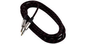RockCable przewód instrumentalny 6 metrów wtyk prosty nylonowa owijka czarna