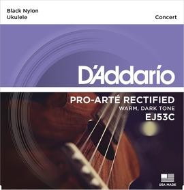 Daddario EJ53C czarne struny do ukulele