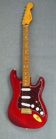 Fender Deluxe Players Strat Crimson Red Transparent