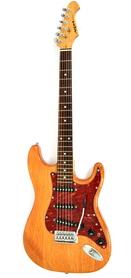 Aria STG Series Natural Active Gitara Elektryczna