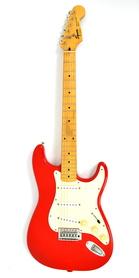 Squier Stratocaster by Fender Fiesta Red MIK Gitara Elektryczna