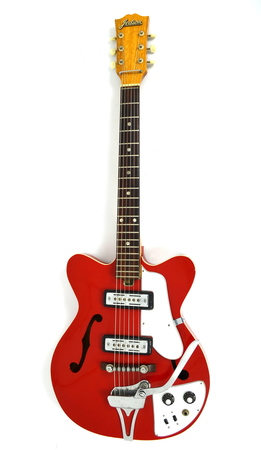 Jedson Semi-Hollow Electric Red Burst MIJ Gitara Elektryczna