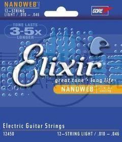 Elixir Nanoweb struny do 12 elektrycznej Light Blue Steel 10-46