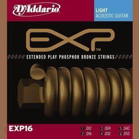 D'Addario EXP-16 Struny do gitary akustycznej 012-053