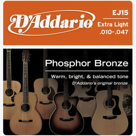 D'Addario 10-47 EJ15 Extra Light Phosphor Bronze Wound