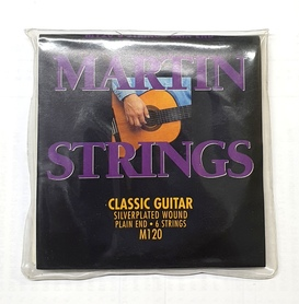 Martin M120 Silverplated Plain-end Classical Guitar Strings Full Set About this product
