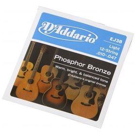D′addario EJ38 struny do gitary akustycznej 12 strunowej 10-47