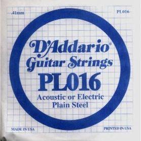 Struna do gitary akustycznej/elektr DADDARIO PL016 Single