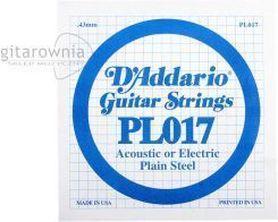 Struna do gitary akustycznej/elektr DADDARIO PL017