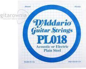 Struna do gitary akustycznej/elektr DADDARIO PL018