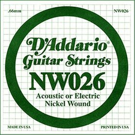 D'Addario NW026 Nickel Wound Electri Single