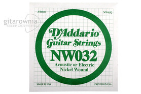 D'Addario NW032 Nickel Wound Electric Single