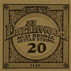 Ernie Ball Earthwood 1420 80/20 Bronze Acoustic Guitar Single 20