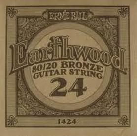 Ernie Ball Earthwood 1424 80/20 Bronze Acoustic Guitar Single 24