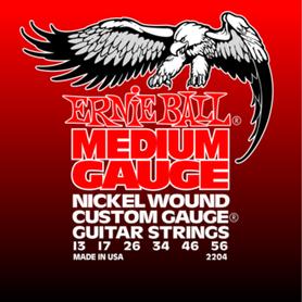 Ernie Ball EB 2204 Medium Guage Struny Do Gitary Elektrycznej 13-56