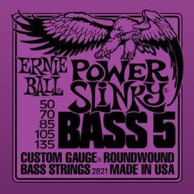 Ernie Ball EB 2821 Power Slinky Bass Struny Do Gitary Basowej 50-135