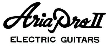Aria Pro II Electric Guitars