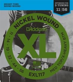 D'Addario EXL117 struny do gitary elektrycznej 11-56