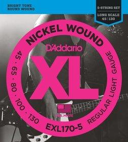 D'ADDARIO EXL170-5 struny do gitary basowej 5 strunowej