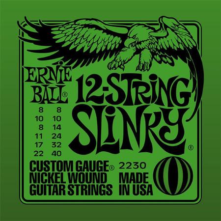 Ernie Ball EB 2230 12-String Custom Slinky struny do gitary 12 strunowej 8-40