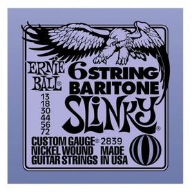 Ernie Ball EB 2839 6string Baritone Slinky Struny Do Gitary Elektrycznej 6strunowej Barytonowej 13-72