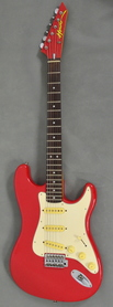 Hondo Red White MIJ Japan Gitara Elektryczna