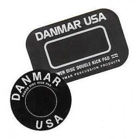 Danmar 210DK Double Rock Pad naklejka pod bijak na naciąg uderzany centrali pod podwójną stopę