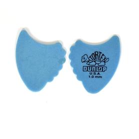 Jim Dunlop 414R1.0 Tortex Fin 1.0mm Blue Plectra kostki 10 sztuk