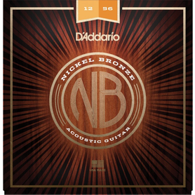 DADDARIO NB1256 struny do gitary akustycznej i elektroakustycznej nickel bronze 12-56