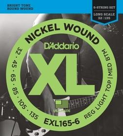 EXL 165-6 DADDARIO 32-135 set  bass xl long 6str. - str. git. bas.