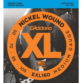 EXL 160 DADDARIO 50-105 set bass xl long scale - str. gir. bas.