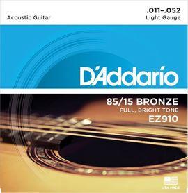 D'ADDARIO EZ910 struny do gitary akustycznej 11--52 bronze