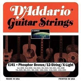D'Addario EJ41 12 String Extra Light