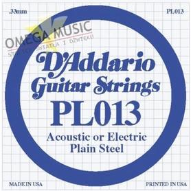 Struna do gitary akustycznej/elektr DADDARIO PL013 Single