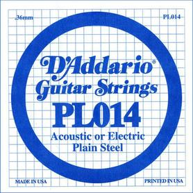 Struna do gitary akustycznej/elektr DADDARIO PL014 Single