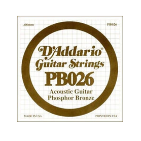 D'Addario PB026Nickel Wound Electric Single