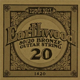 Ernie Ball Earthwood 1420 80/20 Bronze Acoustic Guitar Single 20