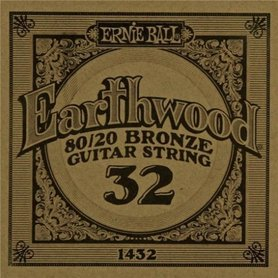 Ernie Ball Earthwood 1432 80/20 Bronze Acoustic Guitar Single 32